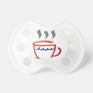 Taza de café abstracta chupetes para bebes