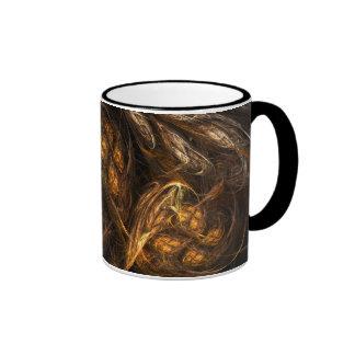 Taza de café abstracta de la madre tierra