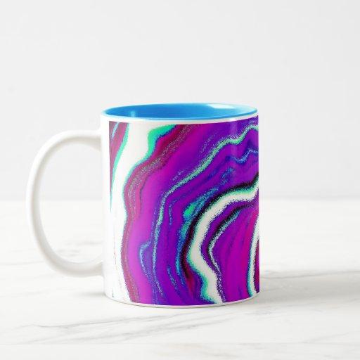 Taza de café abstracta de Spiderweb