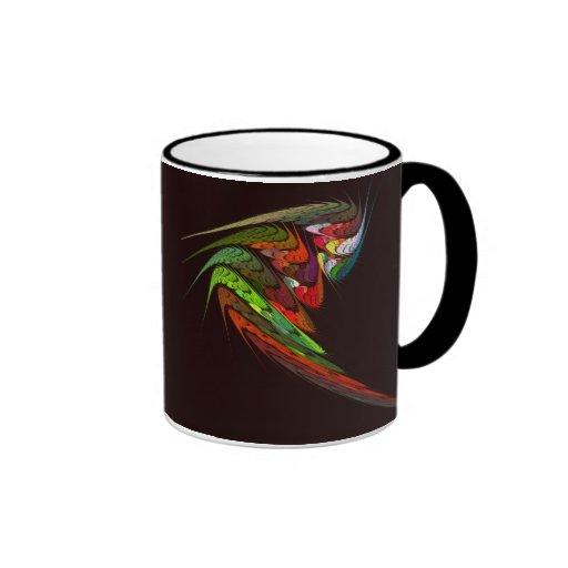 Taza de café abstracta del camaleón