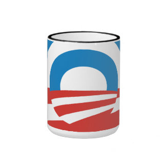 Taza de café abstracta del logotipo de Obama