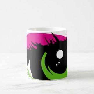 Taza de café abstracta del ojo