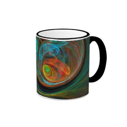 Taza de café abstracta del renacimiento