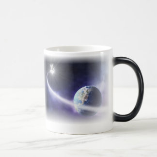 Taza de café activada calor del arte de la paloma