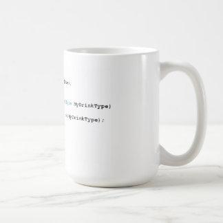 Taza de café aguda de los programadores de C