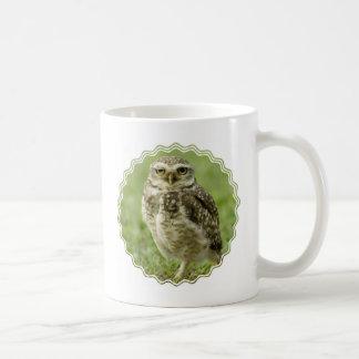 Taza de café alerta del búho