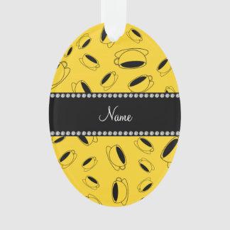 Taza de café amarilla conocida personalizada