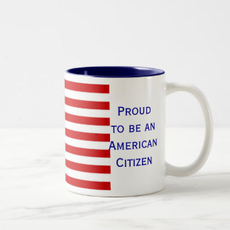 Taza de café americana del tono de la bandera dos