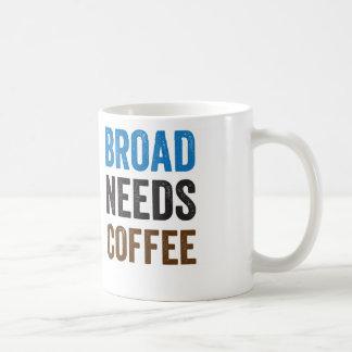 Taza de café amplia de las necesidades