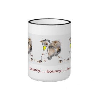 taza de café animosa del pájaro