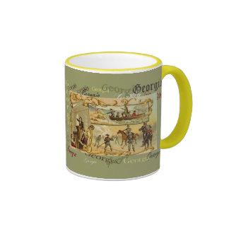 Taza de café antigua de la historia de Georgia del