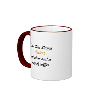 Taza de café antigua de la sabiduría