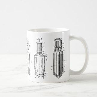 taza de café antigua de las botellas de los 1800s