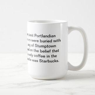 Taza de café antigua de Portland: Entiérreme con S