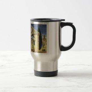 Taza de café antigua del viaje de Roma del vintage