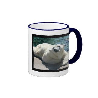 Taza de café ártica del oso polar