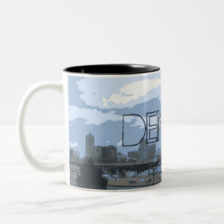 Taza de café artística del horizonte de Denver