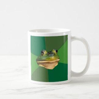 Taza de café asquerosa de encargo de la rana del s