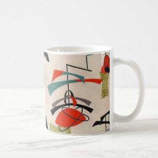 Taza de café atómica moderna de la tela de los