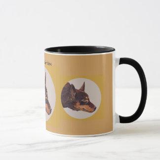Taza de café australiana del campanero del Kelpie