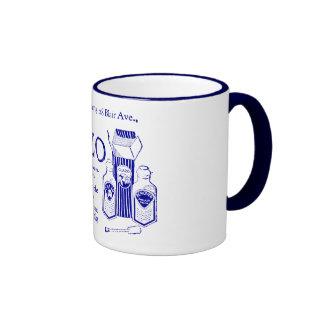 """Taza de café azul de """"GLAZO"""""""