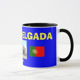 Taza de café azul de Ponta Delgada* Açores