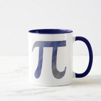 Taza de café azul del pi