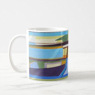 Taza de café azul multi