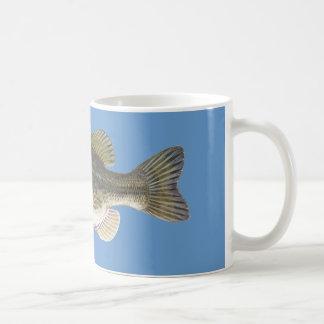 Taza de café baja de los pescados/taza