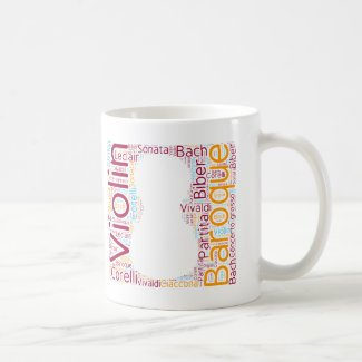 Taza de café Baroque Violin Cloud mug