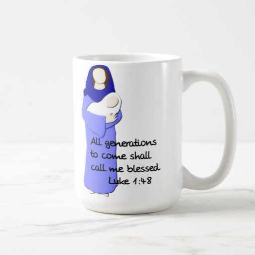 Taza de café bendecida del Virgen María