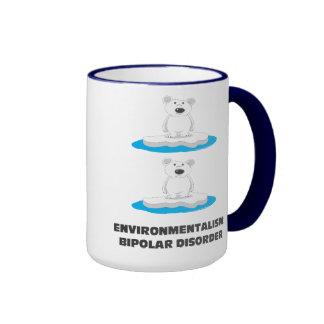 taza de café bipolar de los osos polares