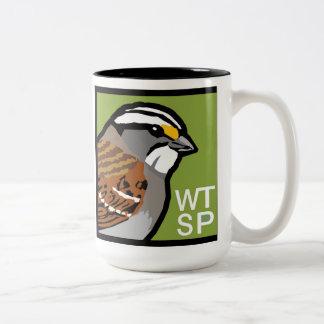 taza de café Blanco-throated del gorrión