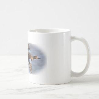 Taza de café bluewing del trullo de la caza del