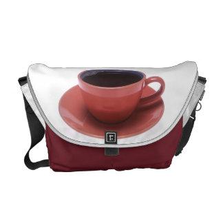 Taza de café bolsas de mensajería