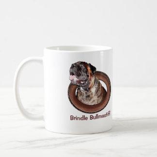Taza de café Brindle de los regalos de Bullmastiff