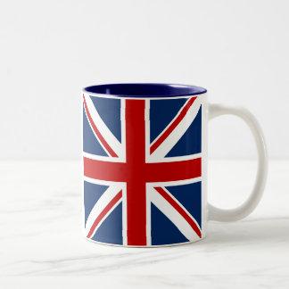 Taza de café británica de la bandera