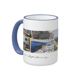 """Taza de café """"buque-tierra"""" del logotipo"""