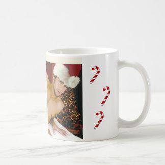 Taza de café caliente de Santa