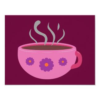 """Taza de café caliente invitación 4.25"""" x 5.5"""""""