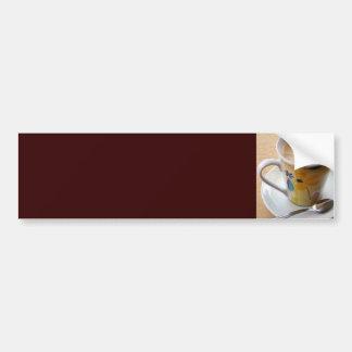 Taza de café caliente pegatina para auto