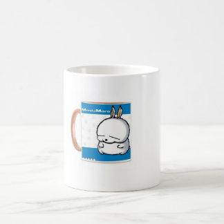 taza de café cambiante de la taza del latte