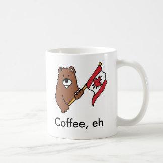 Taza de café canadiense de la bandera de la hoja d
