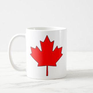 Taza de café canadiense de la hoja de arce