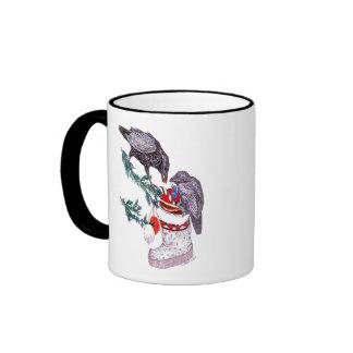Taza de café caprichosa de la fauna de Alaska del