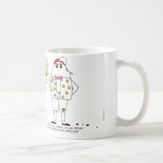 Taza de café casual de la oficina de viernes