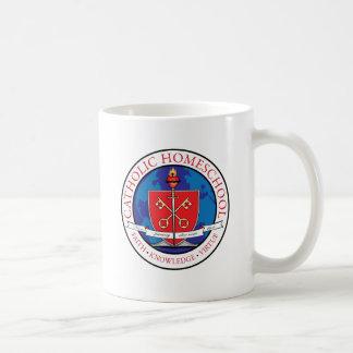 Taza de café católica del escudo de Homeschool