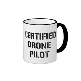 Taza de café certificada del piloto del abejón
