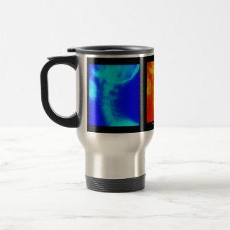 Taza de café cervical del viaje de la