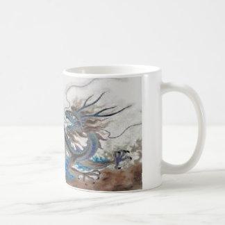 Taza de café china grande del dragón de la tierra
